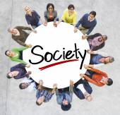People Around Letter Society — Stock Photo