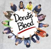 People and Texts Donate Blood — Stock Photo