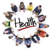 People Holding Hands Around Health — Stockfoto