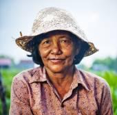 Cambodian local female farmer — Stock Photo
