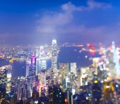 Partially Defocused Hongkong — Stock Photo