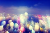 City Scape Colorful Lights Concept — Stockfoto