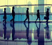 Business People Walking in Office — Stock Photo