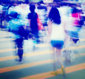 People Pedestrian in Rush Hour — Stock Photo