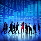 Business People and Stock Market Concept — Fotografia Stock