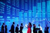 Gens d'affaires et de la notion de marché boursier — Photo