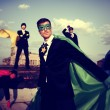 Постер, плакат: Business People Superheroes