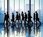 Group of Business People Walking — Stock Photo