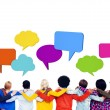 People with Speech Bubbles — Stock Photo #60099949