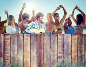 Group of People hane Party — Stock Photo