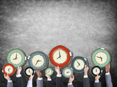 Business People with Time Concept — Stok fotoğraf