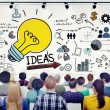 People in Seminar with Ideas Concept — Stock Photo #60109367