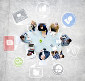 Business People Discussing in Meeting — Stockfoto