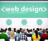 People on Web Design Seminar — Stock Photo