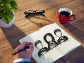 Man and Teamwork Concepts — Stockfoto