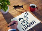 человек и понятия лидерства — Стоковое фото
