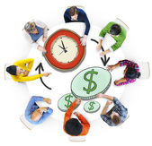 People with Time and Money Concept — Stockfoto