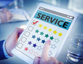 Customer Ranking an Online Service Quality — Stock Photo
