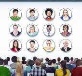 People in Conference About Ethnicities — Stock Photo