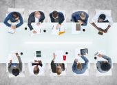 Group of Business People in Meeting — Stock Photo