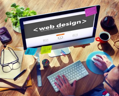 Web Designer Working on New Project