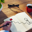 Businessman Drawing Goal Concept — Stock Photo #60111069