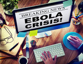 Digital Online Breaking News Ebola Crisis Concept — Stock Photo