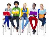 Diverse People Reading Books — Foto de Stock