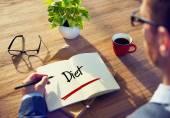 Businessman with Diet Concepts — ストック写真