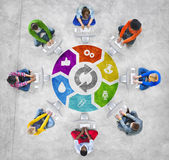 People Social Networking and Internet Concept — Stock Photo