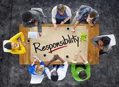 Lidé a koncepce odpovědnosti — Stock fotografie