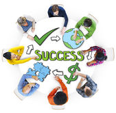 People Brainstorming with Success — Stock Photo