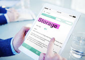Man Searching for Meaning of Storage — Stock Photo