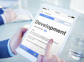 Man Searching for Meaning of Development — Stock Photo