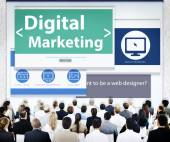 Business People at Digital Marketing Seminar — Stock Photo