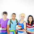 Diverse Multiethnic Cheerful Students — Stock Photo #63021233