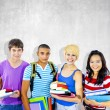 Diverse Multiethnic Cheerful Students — Stock Photo #63021269