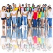 Large Group of Young Adults — Stock Photo #63024861