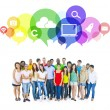 Group of Students of Social Networking — Stock Photo #63024899