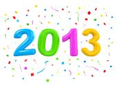 Multi coloured number 2012 — Stock Photo