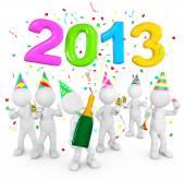 People celebrating new year 2013 — Stock Photo
