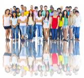 Large Group of Young Adults — Stock Photo