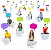Les gens et les Concepts de réseaux sociaux — Photo