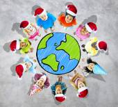 Group of children from around the world — Stock Photo