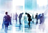 Businessmen Bowing and Business People — Stock Photo