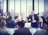 Multiethnic Group of People Meeting — Stock Photo