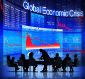 Business People and Global Economic Crisis — Stock Photo