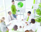 People at Green Business Meeting — Stock Photo