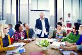 Group of People Brainstorming in the Office — Stock Photo