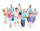 Senior Adult staying fit — Stock Photo